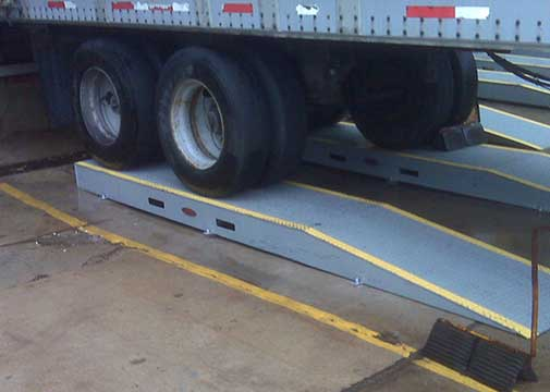 Truck Risers - Wheel Risers for a Dock - Yard Ramp