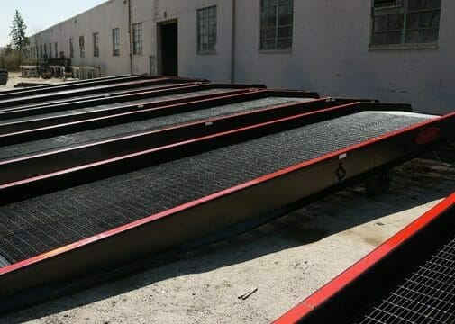yard ramp rentals for use as warehouse portable loading dock ramp