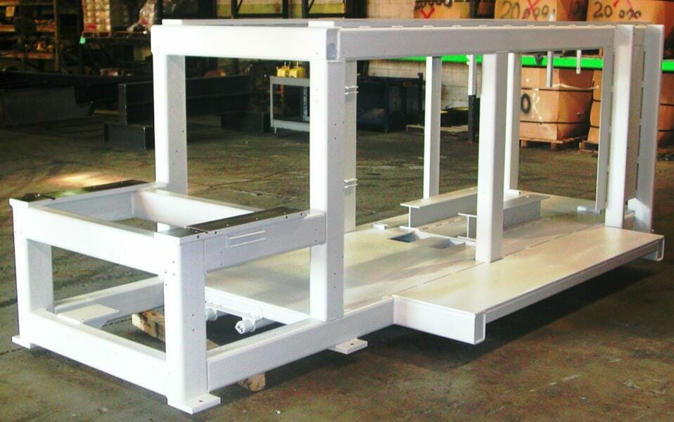 loading dock equipment machined bases and frames