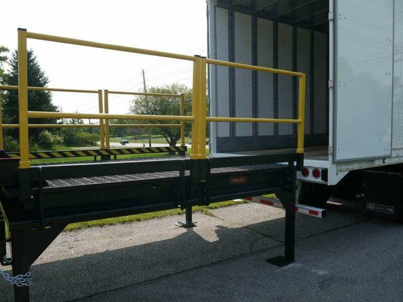 Platform with handrails