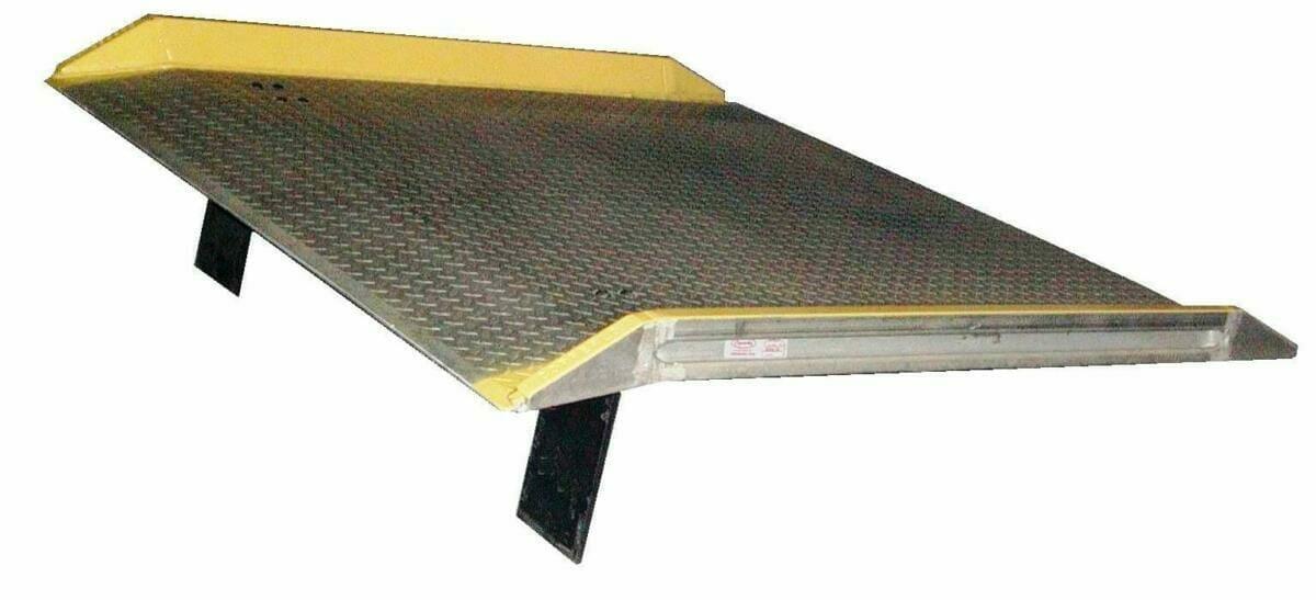 A Copperloy aluminum dock board