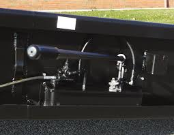 The pump handle for Copperloy heavy duty truck ramps